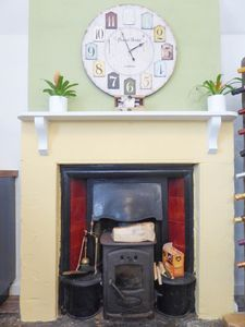 Fireplace in Kitchen- click for photo gallery