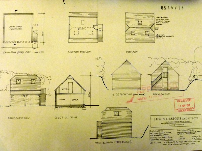 Plans for Studio/Garage- click for photo gallery