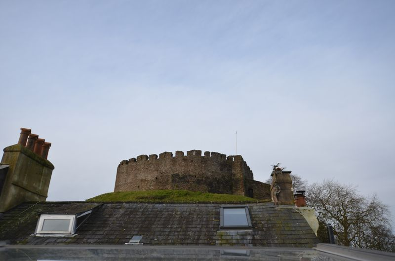 VIEW TO TOTNES CASTLE- click for photo gallery