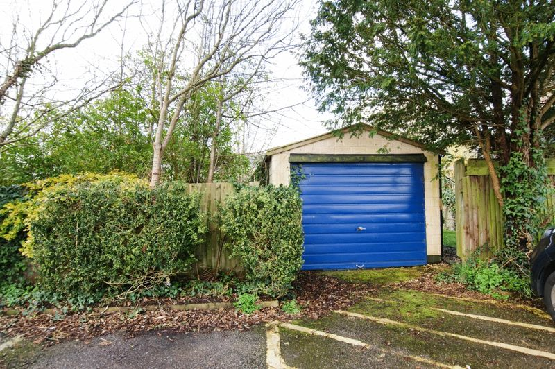 Garage from village car park- click for photo gallery